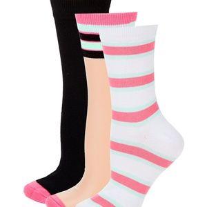 95ae7fd9c1 Juicy Couture Three-Pack Sheer Crew Socks